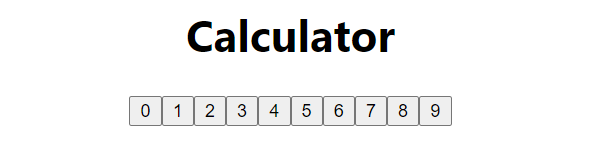 Initial app with number buttons