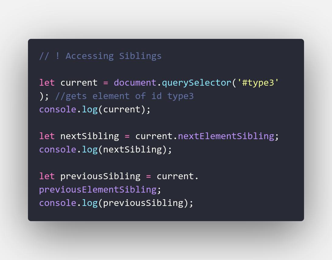 Code - Siblings