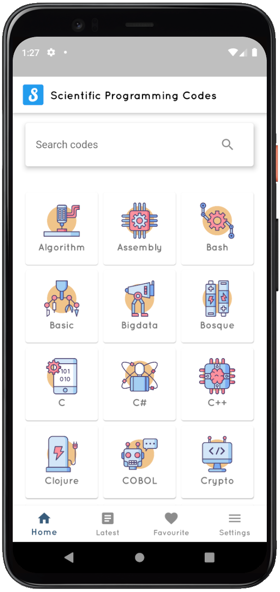 Scientific programming codes -App