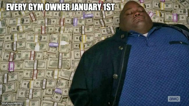 Gym owners on 1st January
