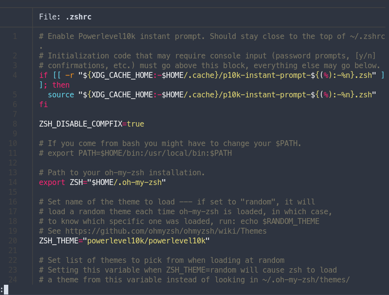Colored syntax highlight for printing file to terminal with bat