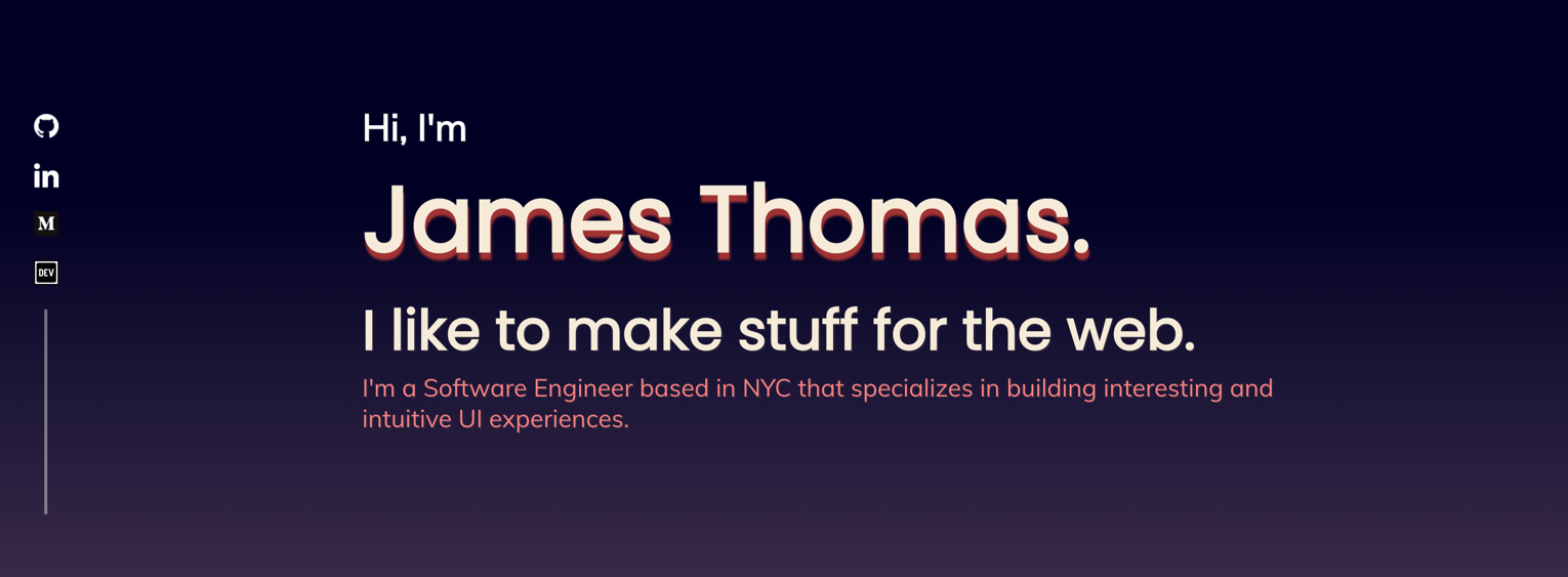 James Thomas has made the social media icons fixed on the page