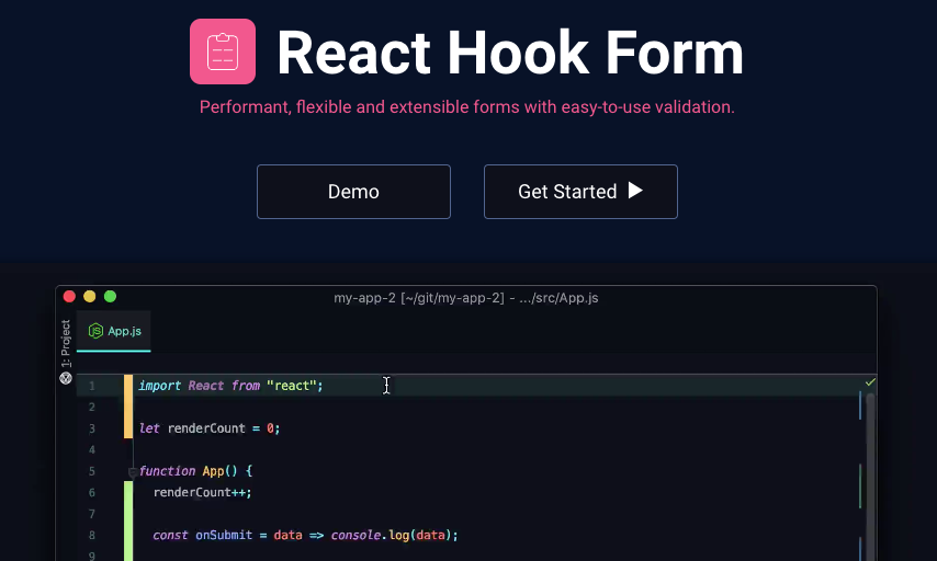 React Hook Form Homepage