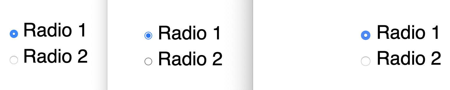 radio buttons in Firefox, Chrome, Safari with no text scaling