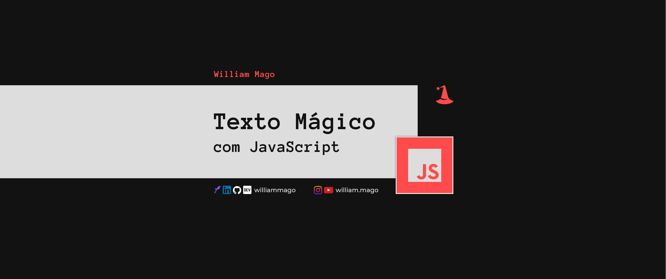 "Texto ""mágico"" com JavaScript"