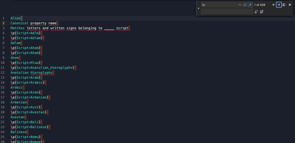 Repl of pasted text with a find/replace set to find \n with regular expression option selected and replace with a space