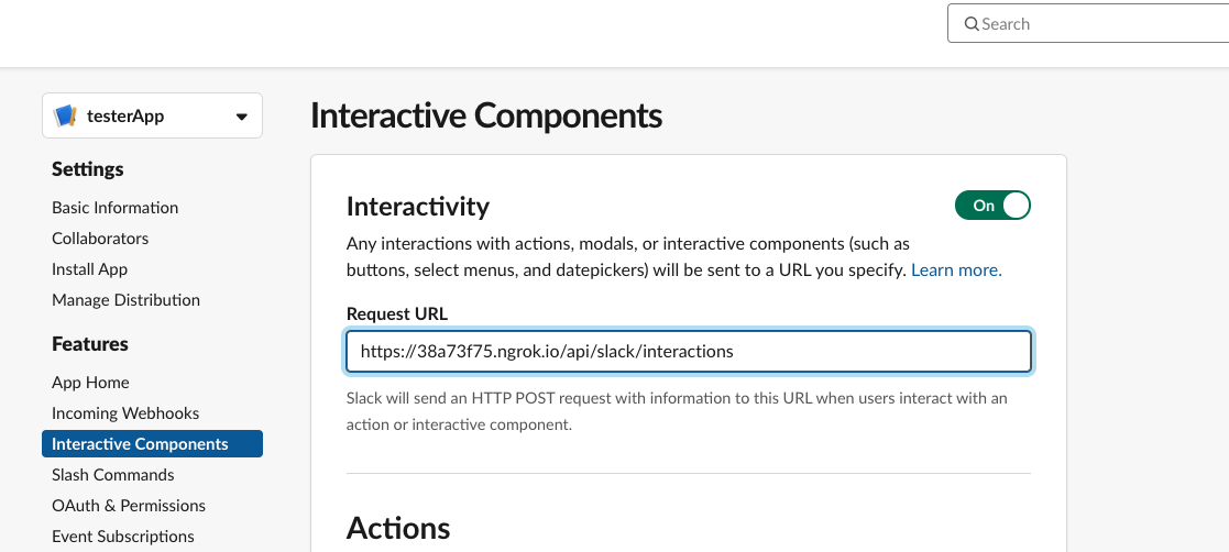 Interation components page