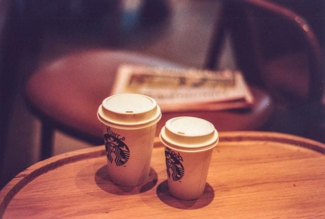 A styrofoam cup