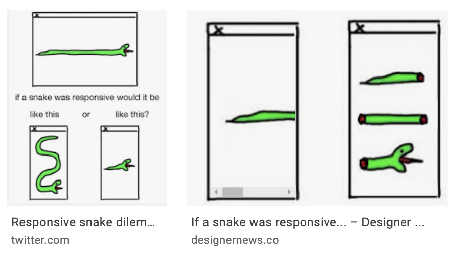 If a snake was responsive...