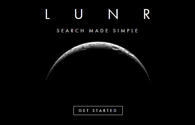 Lunr website homepage