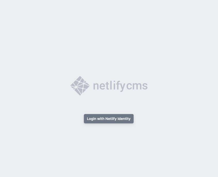 Netlify CMS Admin Page
