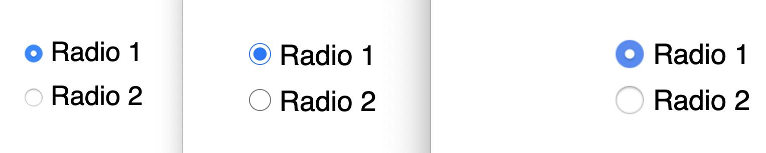 radio buttons in Firefox, Chrome, Safari