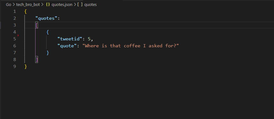 Quotes JSON