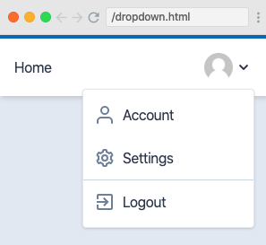 UI featuring a drop-down