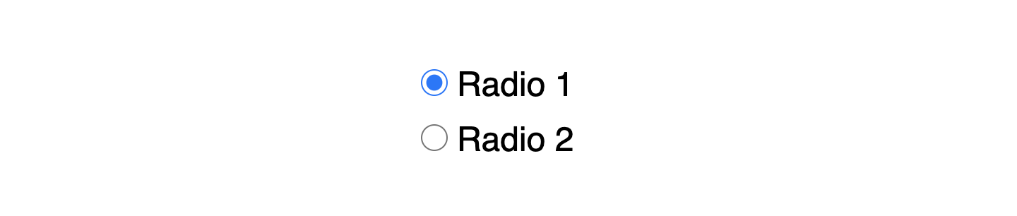 native radio buttons in Chrome