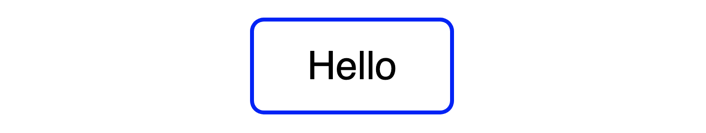 an element using box-shadow in place of a border for the effect of a rounded blue border