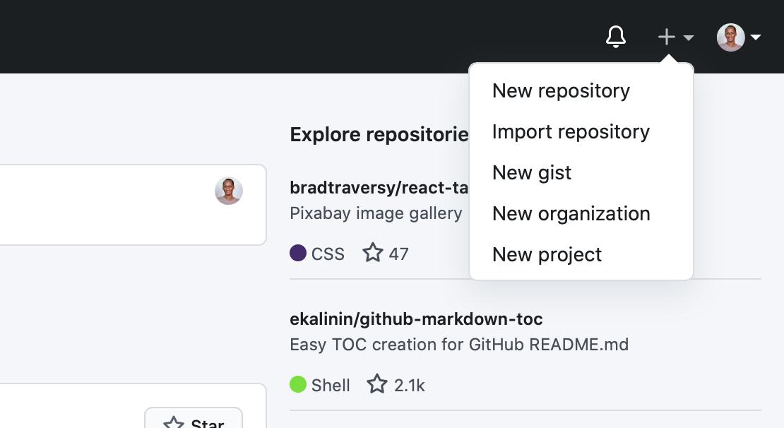 A screenshot of GitHub