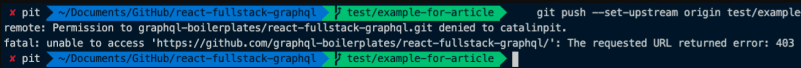 Git clone error example