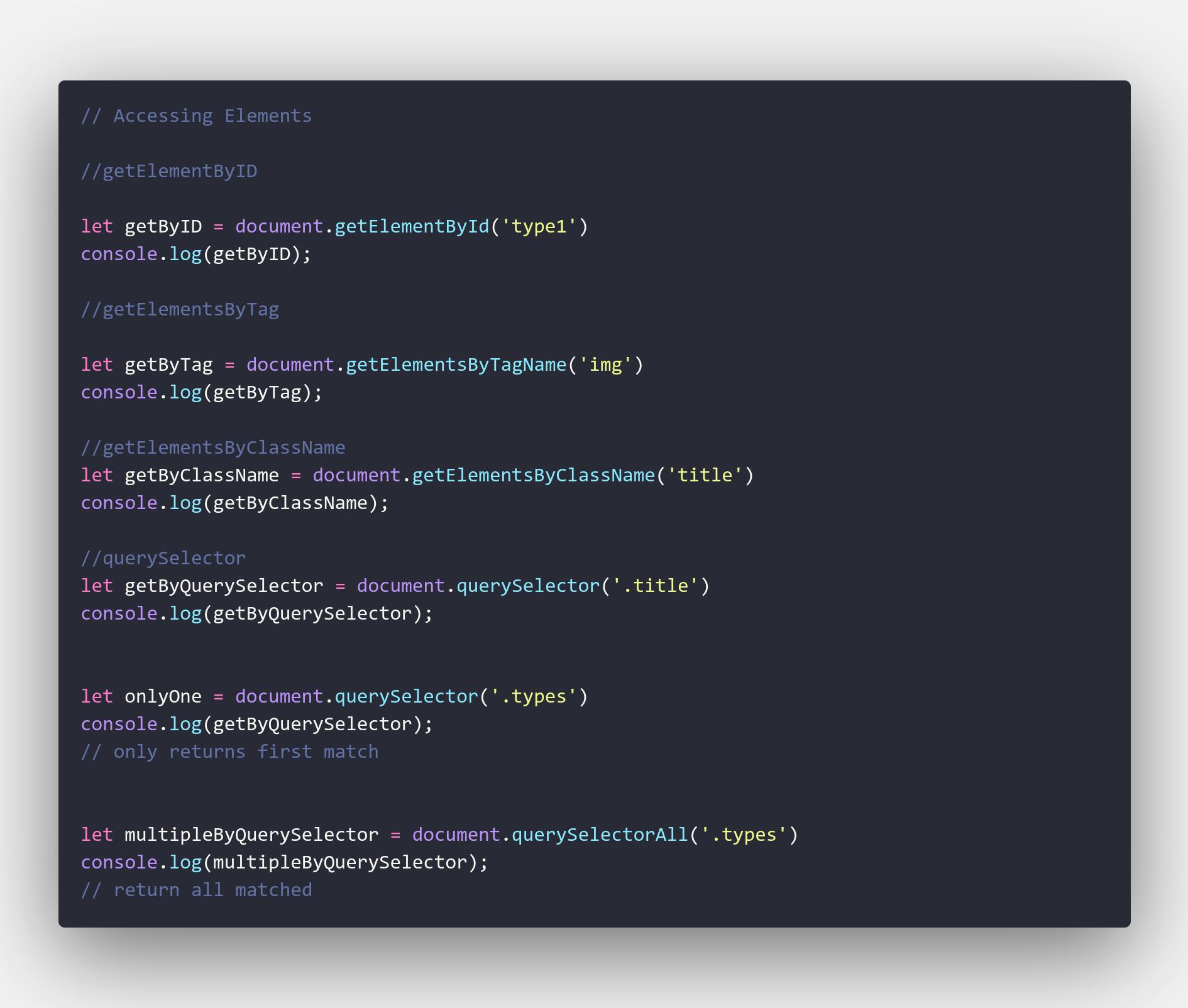 Elementss code