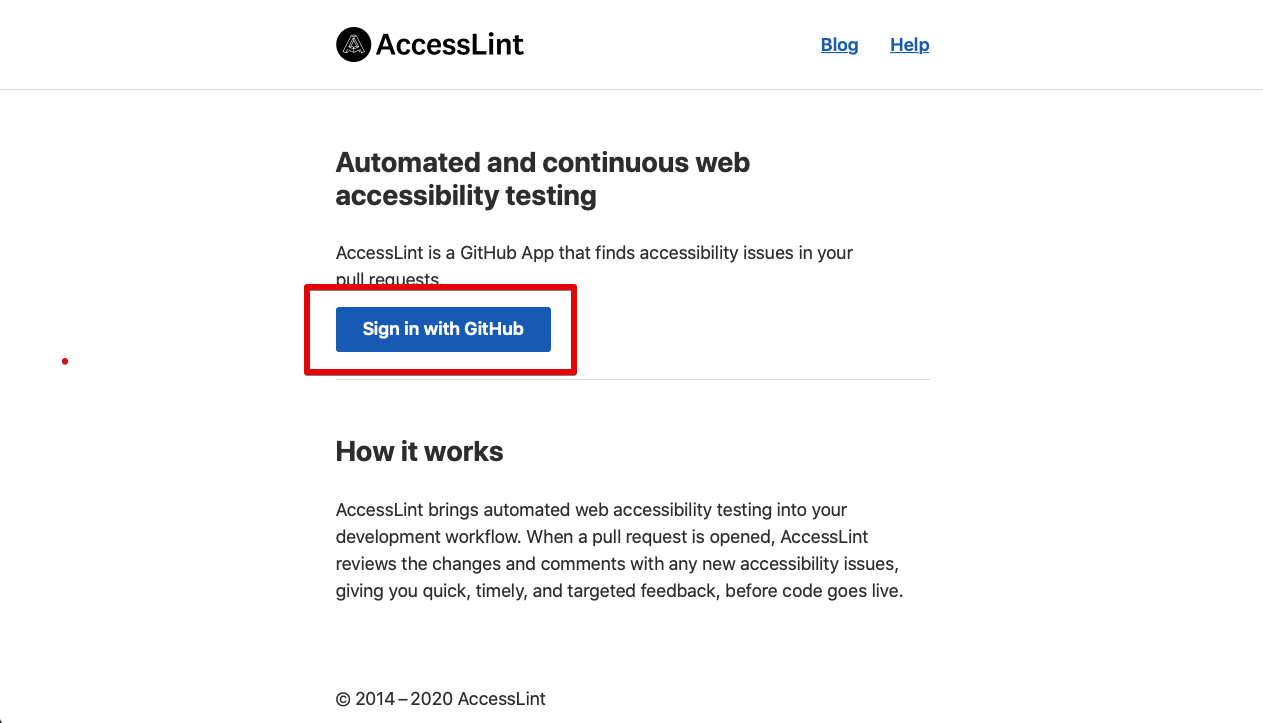 access_lint_home_page
