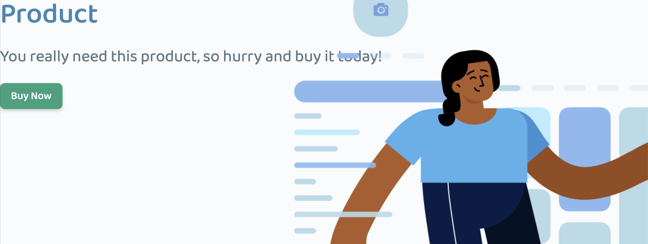 marketing hero progress with image styles