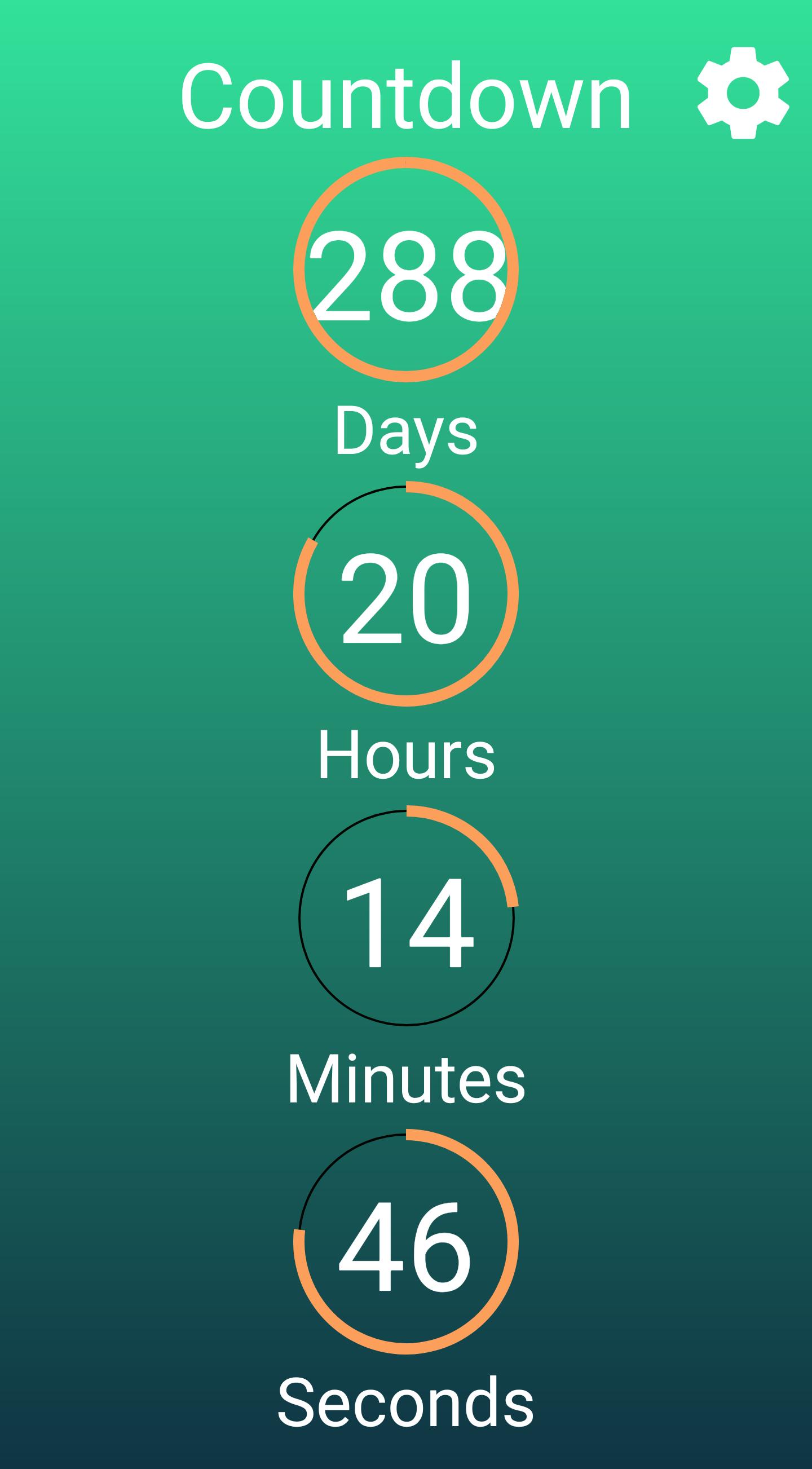Countdown App Screen