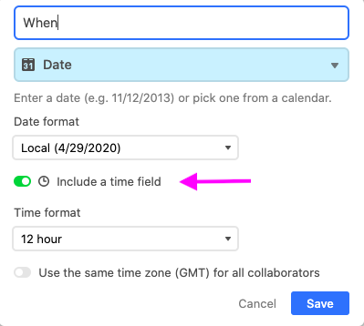 Time Toggle within Airtable