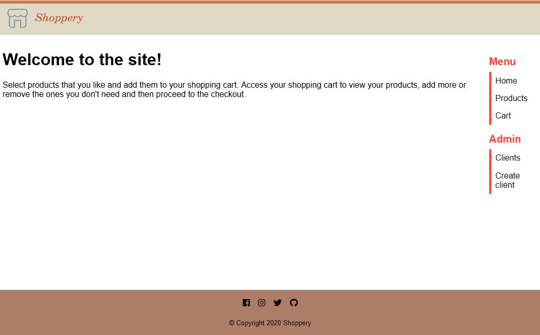 Shoppery Homepage