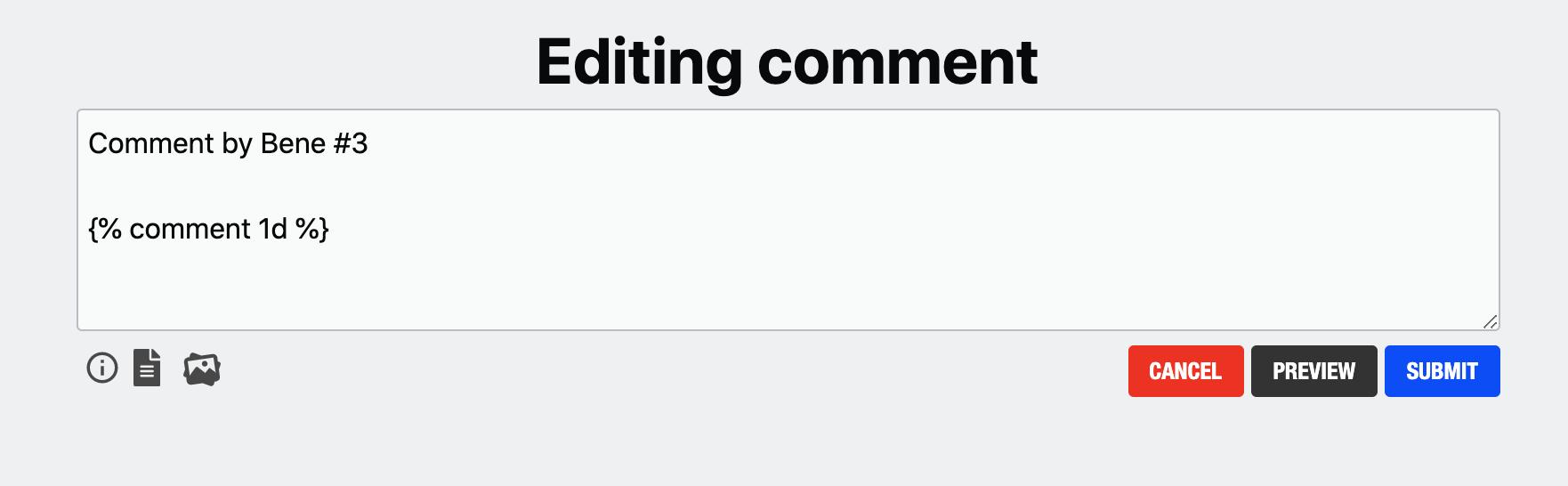 Bene Edits Comment