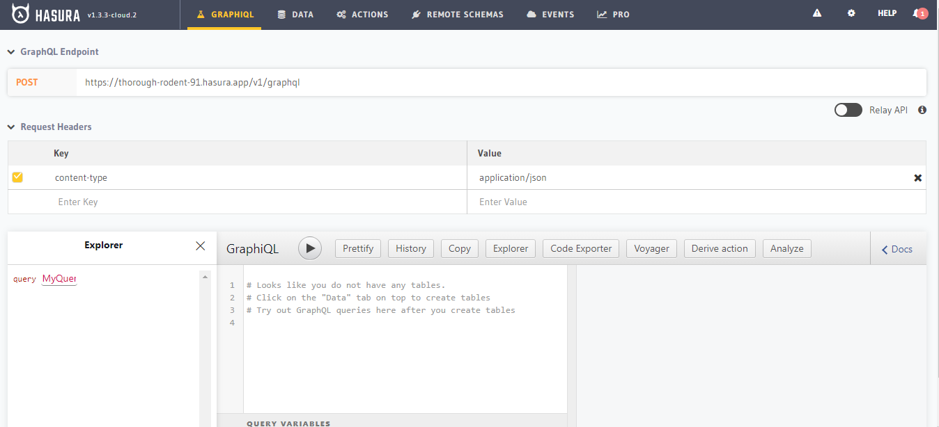 API Explorer _ Hasura and 8 more pages - Work - Mi