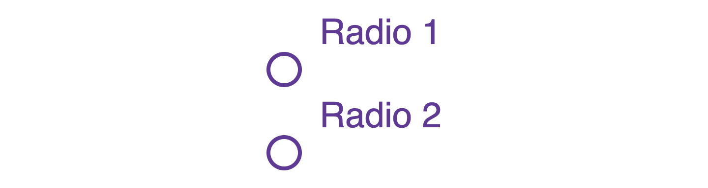 progress of styles for the custom radio control shows the custom control rendering lower than the radio label