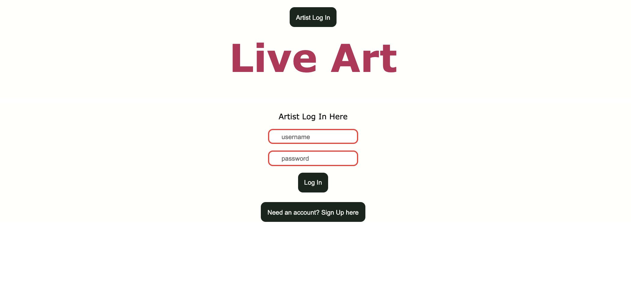 Artist Login