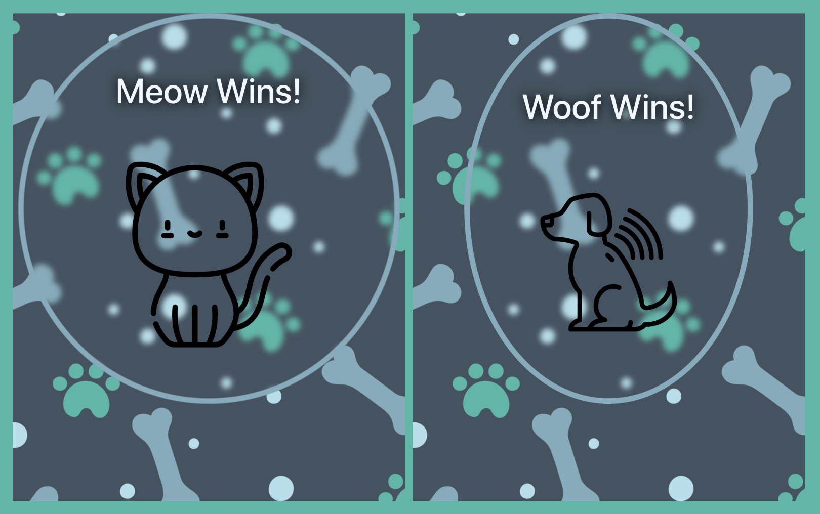 meow wins woof wins