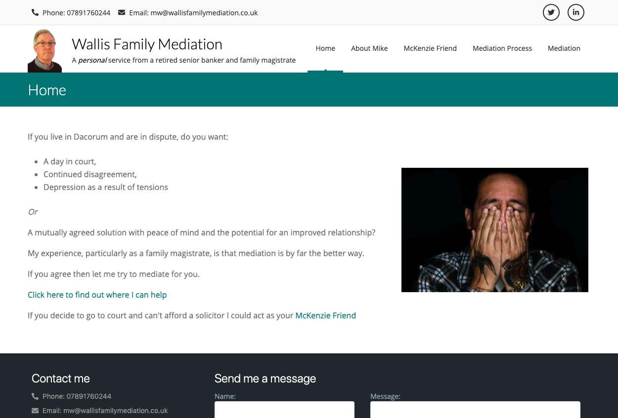 Wallis Family Mediation home page