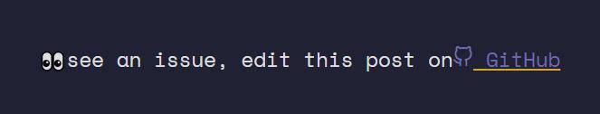 Edit on GitHub