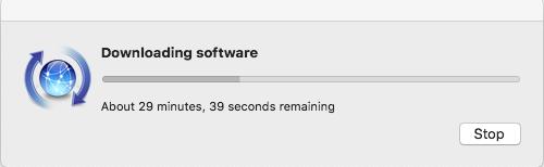 xcode is installing