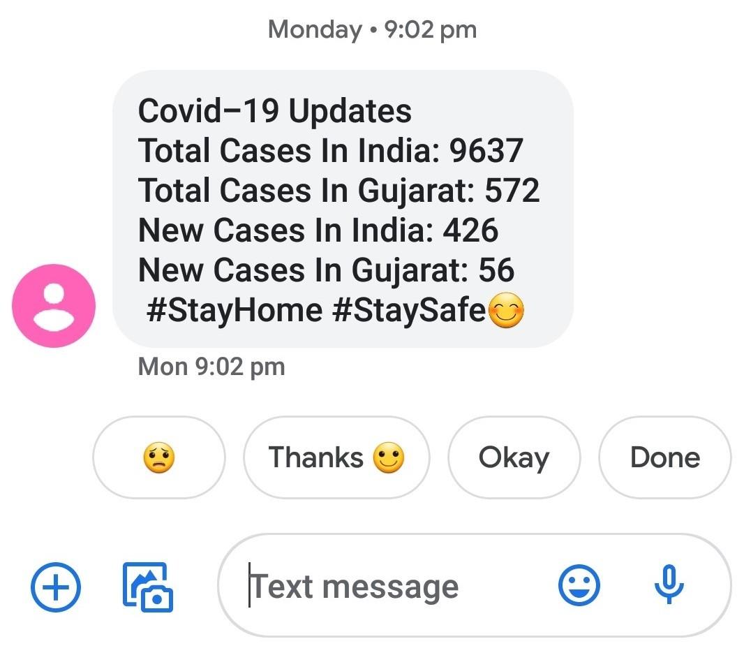 SMS Updates