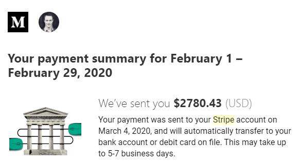Medium Earnings February