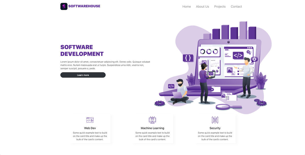 How to create a simple web page using Bootstrap 5 - Hero section