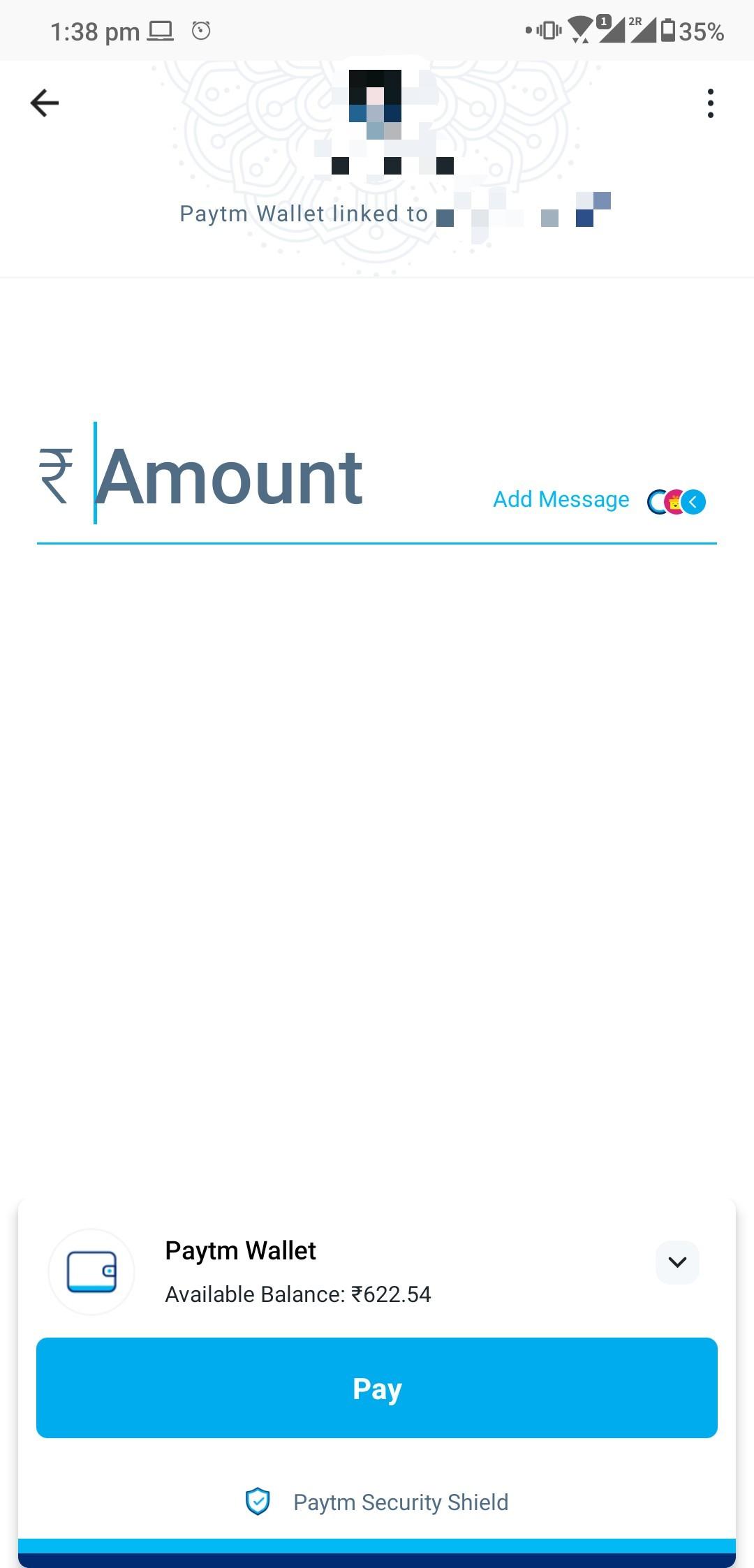 PayTM Wallet balance screenshot