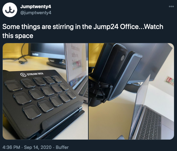 Preview of Jump24 tweet about forthcoming events