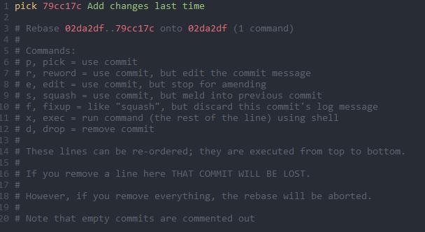 Rebasing on changes branch