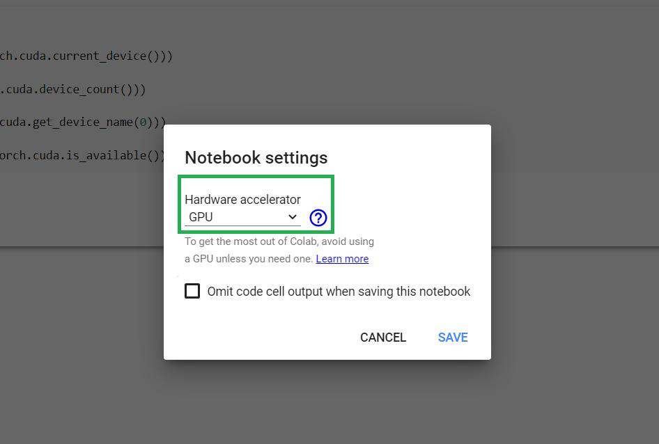 google colab enabling gpu