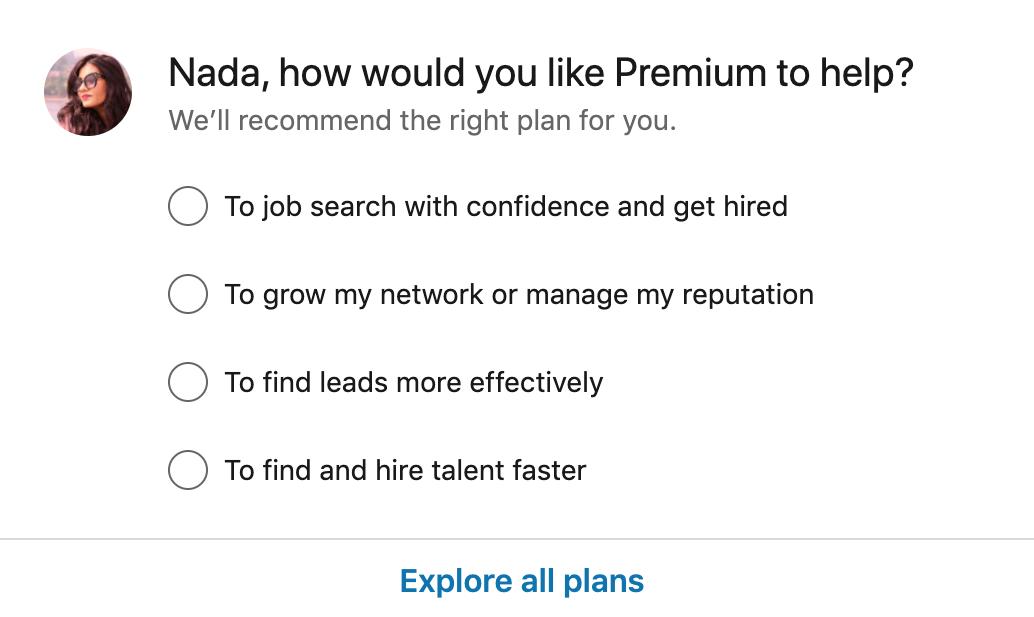 LinkedIn premium service