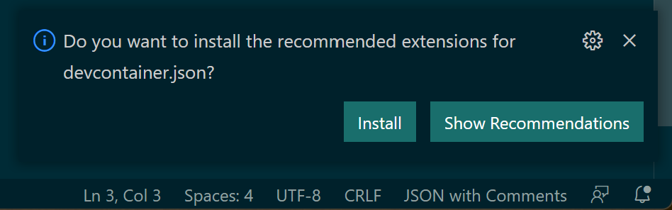 Install recommended extensions