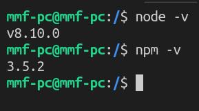 Node - npm version