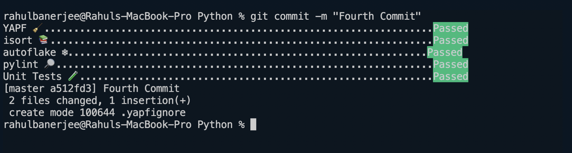 Pre-commit in action
