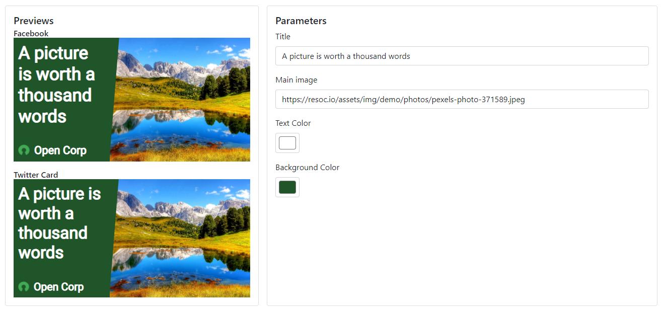 Default image template