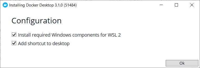 Installing Docker Desktop with WSL 2 support