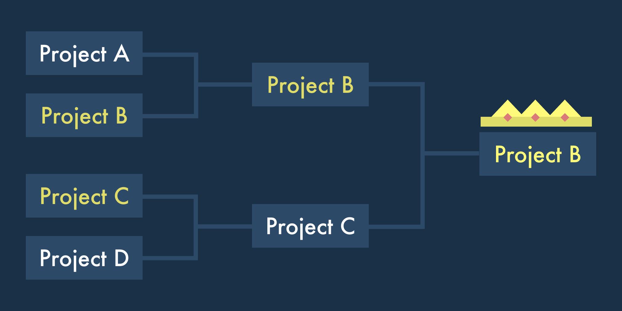 Bracket of project ideas